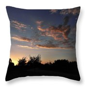 Winters Evening Throw Pillow