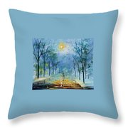 Winter's Fog Throw Pillow