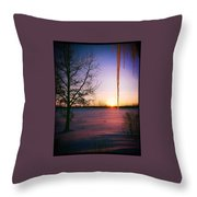 Winters Glow Throw Pillow