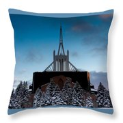 Winter's Heavenly Show Throw Pillow