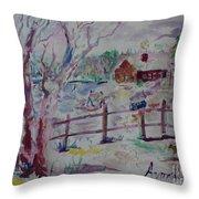Winter's Joys Throw Pillow