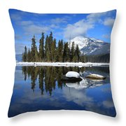 Winters Mirror Throw Pillow