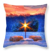 Winter's Morn Throw Pillow