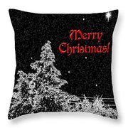 Winter's Night- Vertical Throw Pillow by Methune Hively
