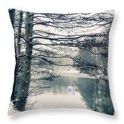 Winter's Reach II Throw Pillow