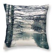 Winter's Reach Throw Pillow