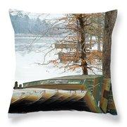 Winter's Rest Throw Pillow