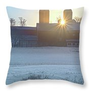 Winter's Welcome Throw Pillow