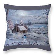Wintertime Throw Pillow