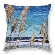 Wintertime On Lake Erie Throw Pillow