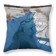 Wintery Creek Throw Pillow