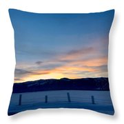 Wintery Sunrises  Throw Pillow