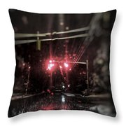 Wintry Drivings Throw Pillow