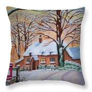 Wintry Evening Throw Pillow