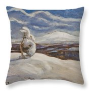 Wintry Landscape Throw Pillow