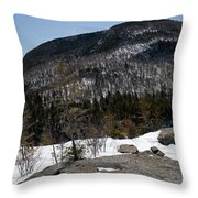 Wintry Mountainscape 1 Throw Pillow