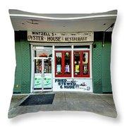 Wintzells Front Door In Mobile Alabama Throw Pillow