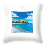 Wip Divi Little Bay Beach Throw Pillow