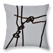 Wire And Snow Throw Pillow