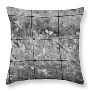 Wire Fence Throw Pillow