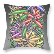 Wire Flowers Throw Pillow