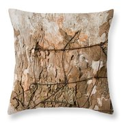 Wire In Wood Throw Pillow