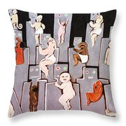 Wire Mothers Throw Pillow