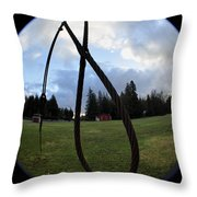 Wire Rope Loggers Noose Throw Pillow