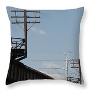 Wire Terminal Structures Throw Pillow