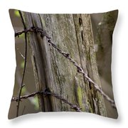 Wire That Tamed The West Throw Pillow