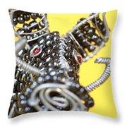 Wire Warthog Throw Pillow