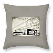 Wires And Coils Silhouette Throw Pillow
