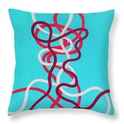 Wires Throw Pillow by Daniel Hannih