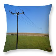 Wires Throw Pillow