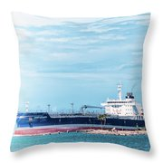 Wisby Atlantic - Incoming Ship Throw Pillow