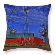 Wisconsin Amish Farm Throw Pillow