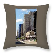 Wisconsin Ave 1 Throw Pillow