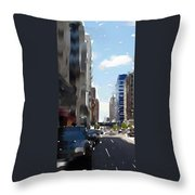 Wisconsin Ave 3 Throw Pillow