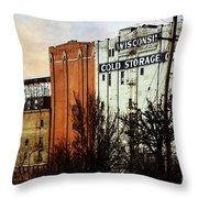 Wisconsin Cold Storage Throw Pillow