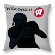 Wisconsin Football Throw Pillow