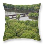Wisconsin River Overlook 2 Throw Pillow