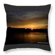 Wisconsin Sunset 10 Throw Pillow