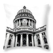 Wisconsin's Capitol Throw Pillow