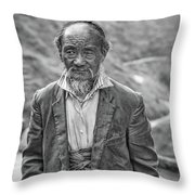 Wisdom - A Year Later Bw Throw Pillow