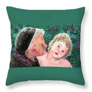 Wisdom And Innocence Throw Pillow