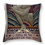 Wisdom Lords Over Rockefeller Center Throw Pillow