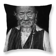 Wisdom Monochrome Throw Pillow