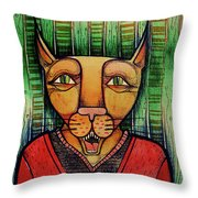 Wise Cat Throw Pillow