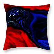 Wise Old Crow In Strange Light. Throw Pillow