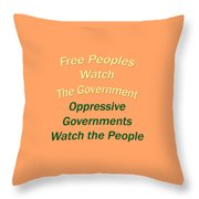 Wise Sayings About Government 5004.02 Throw Pillow